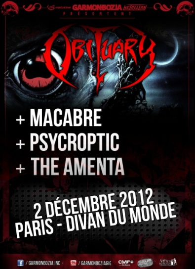 Obituary @ Paris