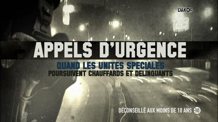 Appels d'urgence - Quand les unités spéciales poursuivent chauffards et délinquants - 06/11/2012 [TVRIP][HDTV]