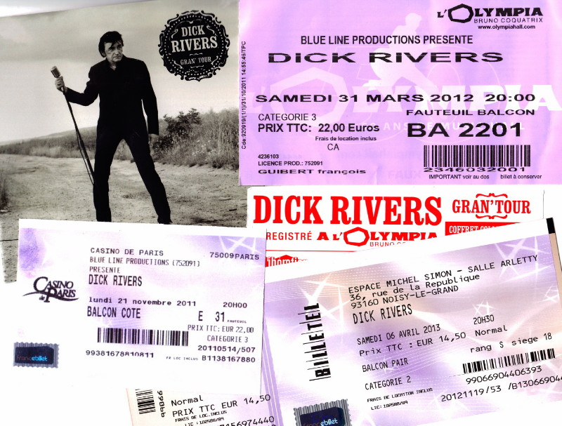 """Album live """"GRAN' TOUR"""" (2012) de DICK RIVERS par JEAN-WILLIAM THOURY dans """"ROCK&FOLK"""" (n°545, janvier 2013) 12111907353914236110572399"""