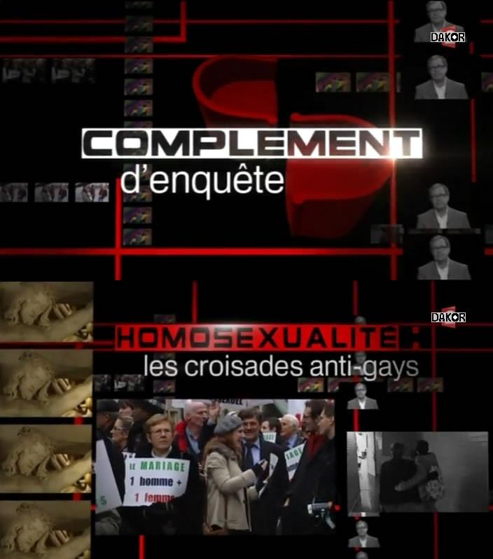 Complément d'enquête - Homosexualité : les croisades anti-gays - 29/11/2012 [TVRIP]