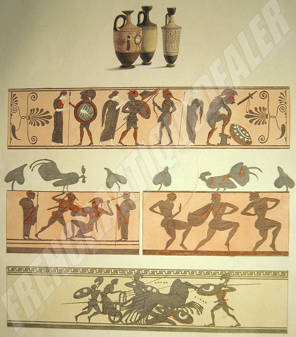 GRAVURE XVIIIe mythologie sacrifice dessin LE BARBIER grav. Halbou ...