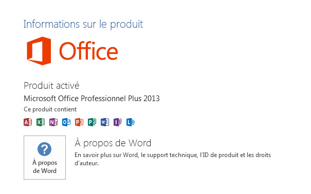 Microsoft Office Professionel Plus 2013x64 bits
