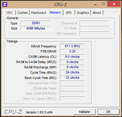 cpuz memory