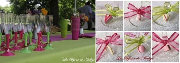 décoration de table thème gourmandise mariage
