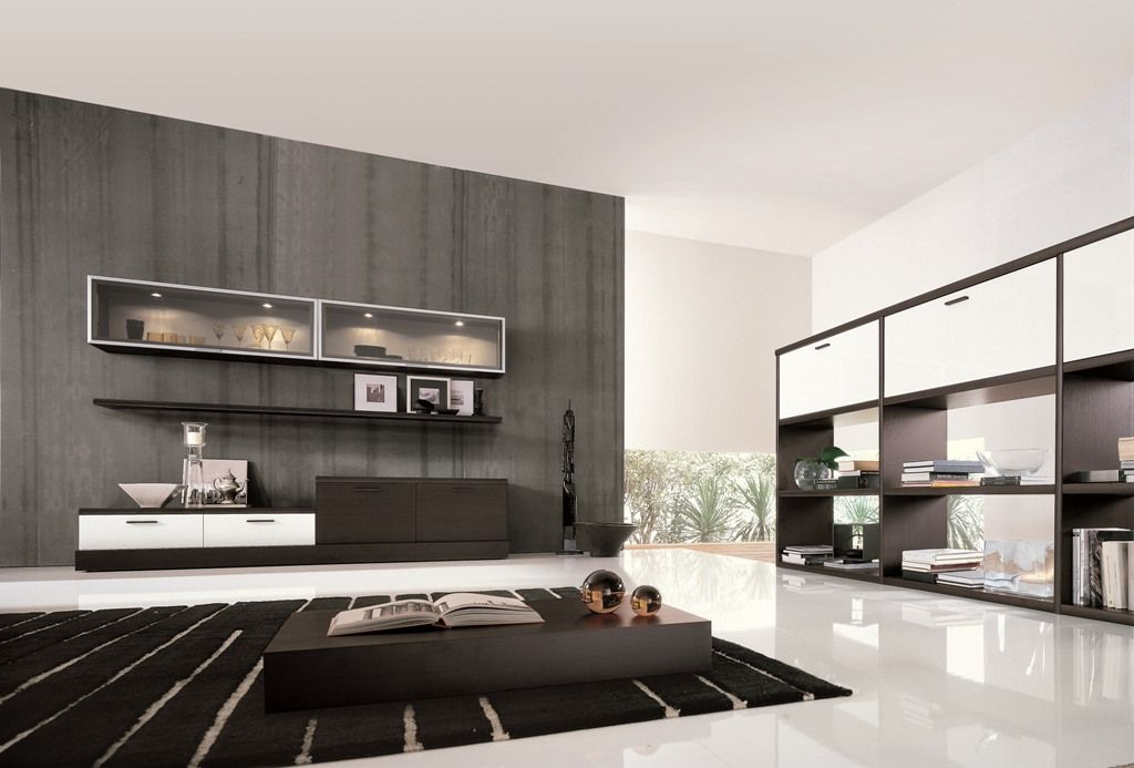 stunning decoration salon contemporain photos ridgewayng. Black Bedroom Furniture Sets. Home Design Ideas