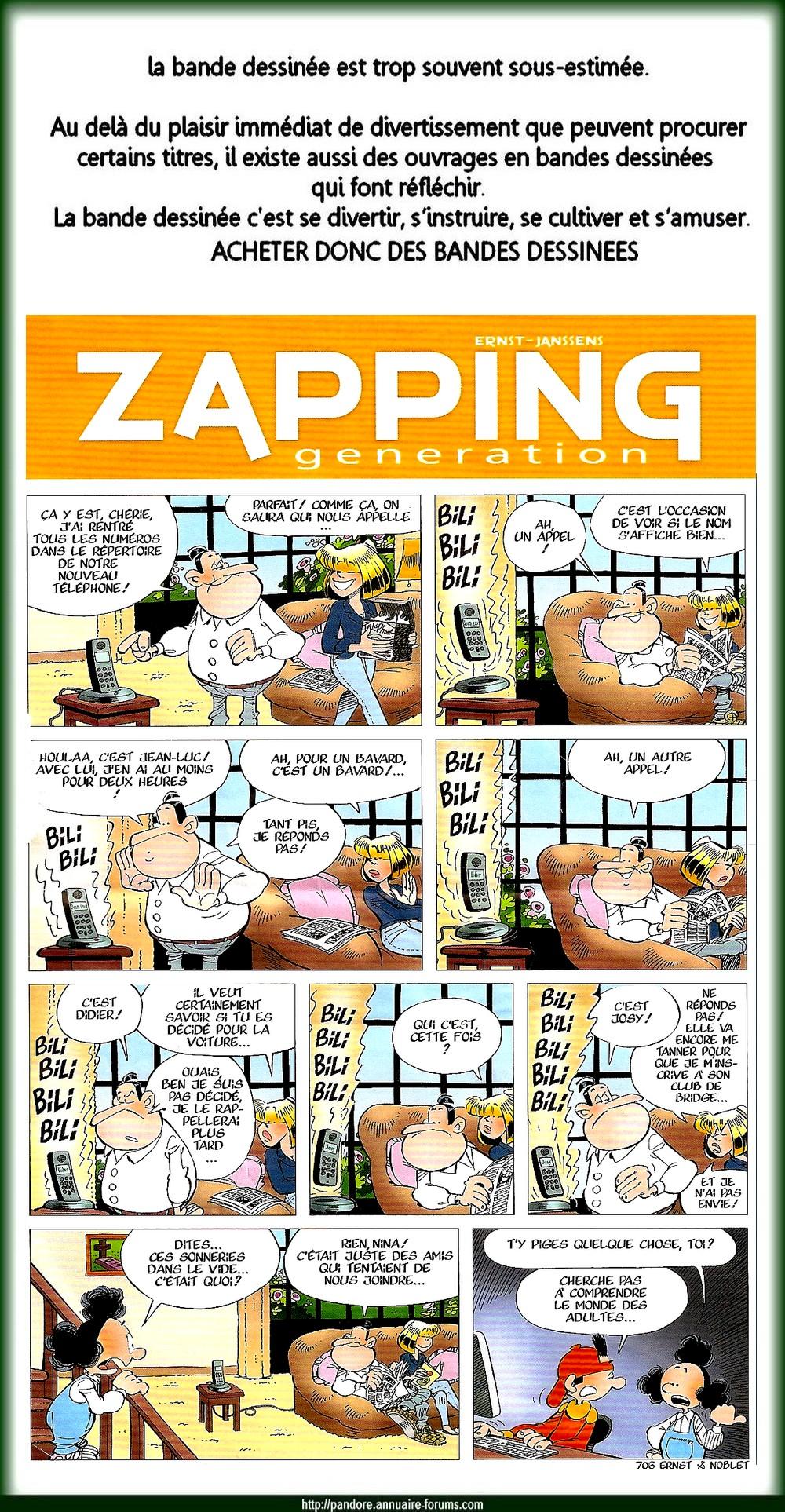 bande dessinée - zapping 13021405155616073410866761