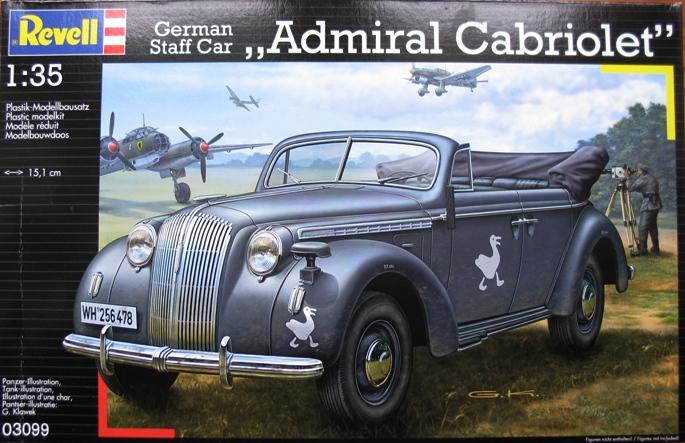Opel admiral cabriolet Revell 1/35 1302250430266670110904239