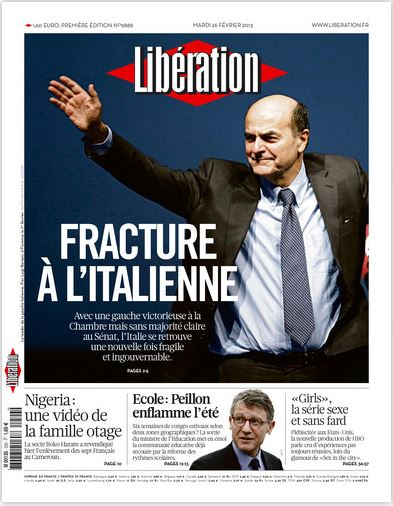 Libération Mardi 26 février 2013