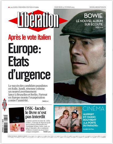 Libération Mercredi 27 Février 2013