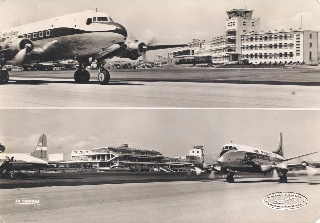 Carte Postale Aéroport de Nice et Type H Plan Complet Filigrane