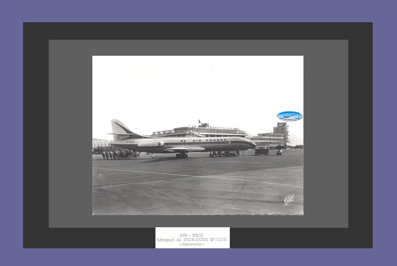 Web - Carte Postale Caravelle Air France F-BHRB Nice Réf 2070 Composition