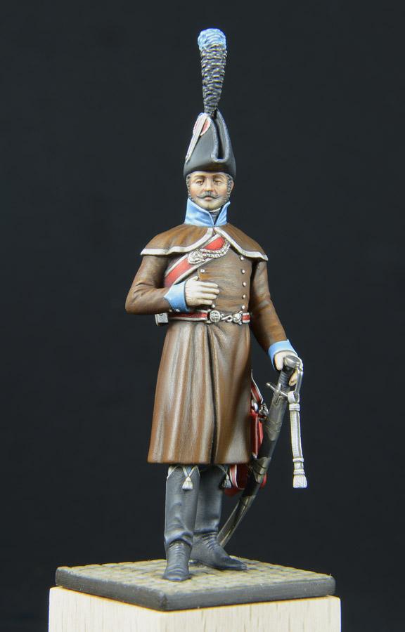 Hussards suite: Officier du 2ème Régiment en redingote. 1303170253253593410978854