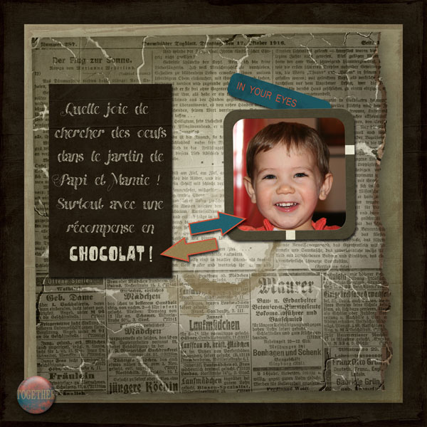 every smile kit digiscrap simplette page sakura