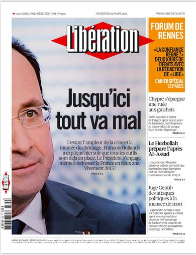 Libération Vendredi 29 mars 2013