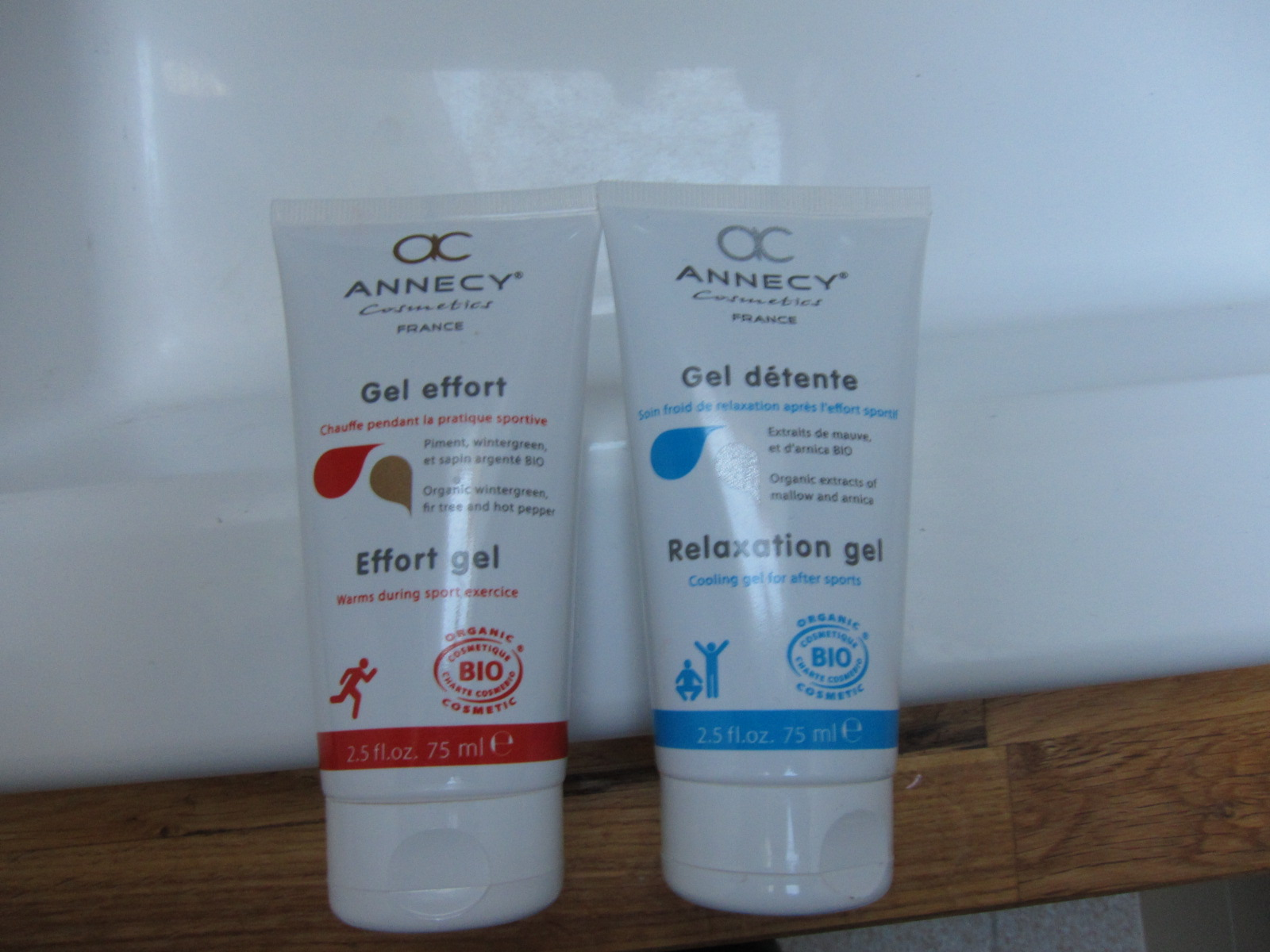 Annecy Cosmetics - Gel effort et Gel détente