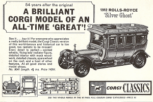 Publicité Rolls-Royce Silver Ghost Corgi Classics