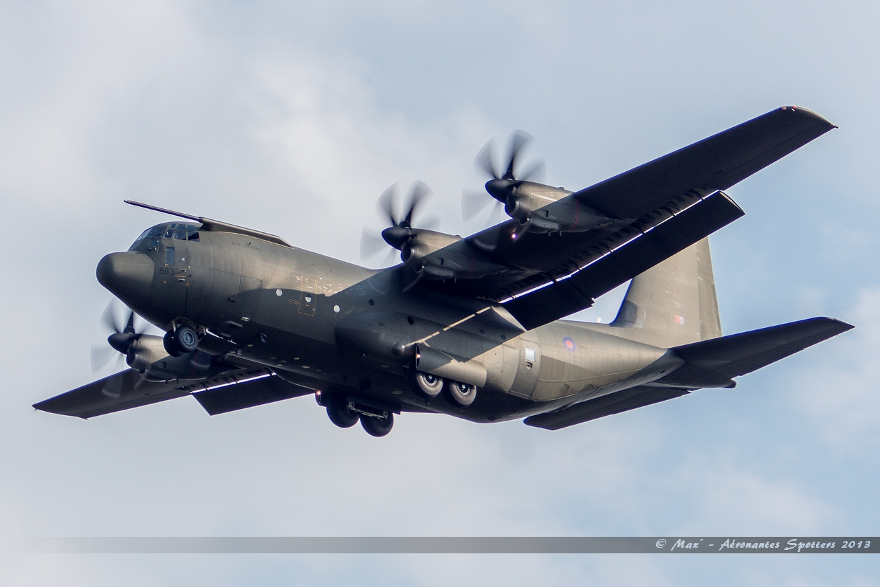 [03/04/2013] Lockheed Hercules C130-5 (ZH883) Royal Air Force 13040412372515922511045837