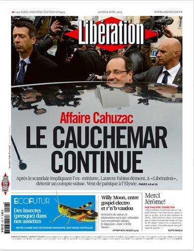 Libération Lundi 8 avril 2013