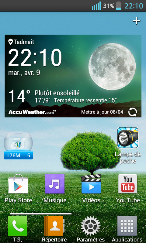 application meteo lg g3 ne saffiche plus