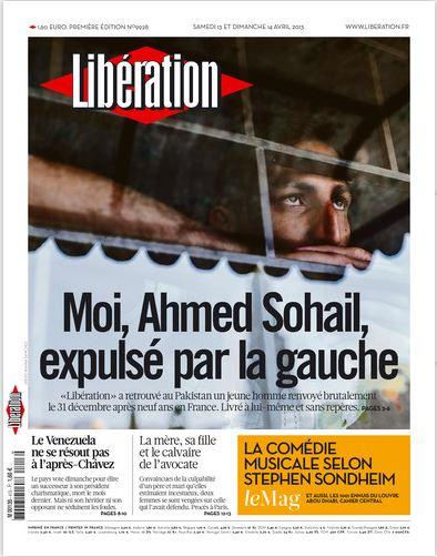 Libération Samedi 13 et dimanche 14 avril 2013