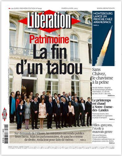 Libération Mardi 16 avril 2013