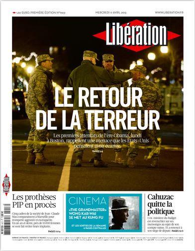 Libération Mercredi 17 avril 2013
