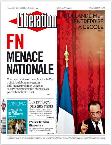 Libération Mardi 30 avril 2013
