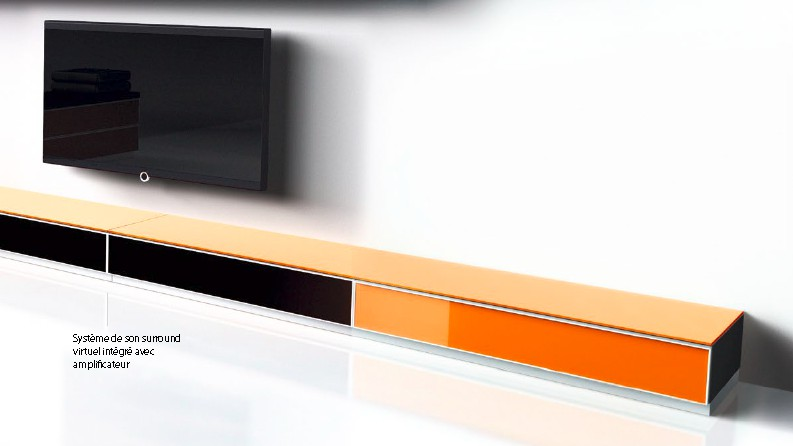Meuble tv avec cache cable meuble de salon contemporain - Meuble tv avec support orientable ...