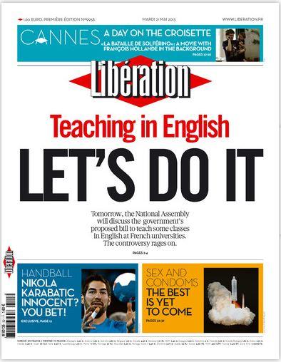 Libération Mardi 21 mai 2013