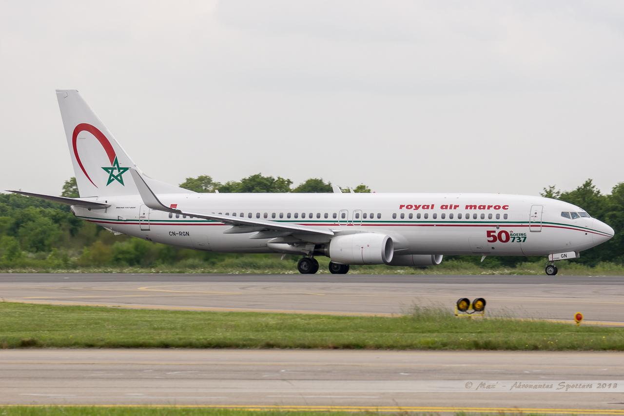 [ 18/05/2013 ] B737-8B6 Royal Air Maroc (CN-RGN) 50 th boeing 737 13060612525116463311265826