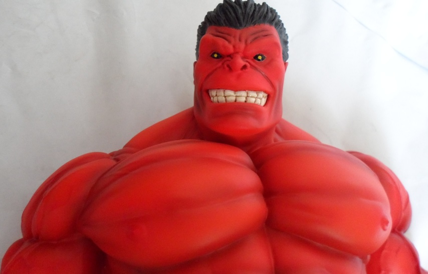 RED HULK MINI BUST GENTLE GIANT 130607033056732011269319