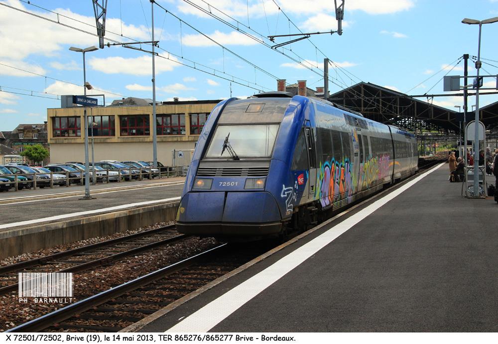 Pk 500,1 : Gare de Brive-la-Gaillarde (19) 1306100222196263211278334