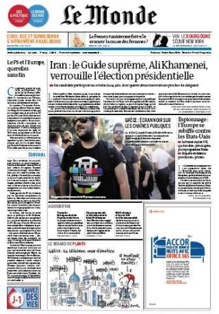 Le Monde Jeudi 13 Juin 2013