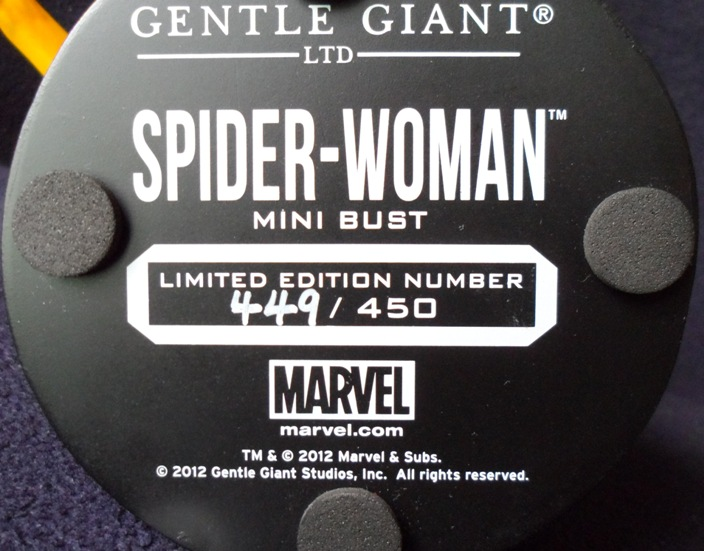 SPIDER-WOMAN MINI BUST GENTLE GIANT 130620040449732011310136