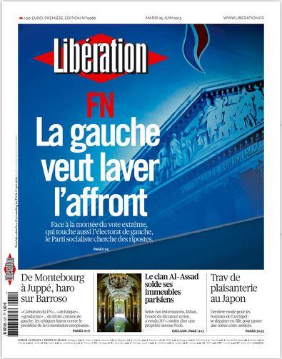Libération Mardi 25 juin 2013