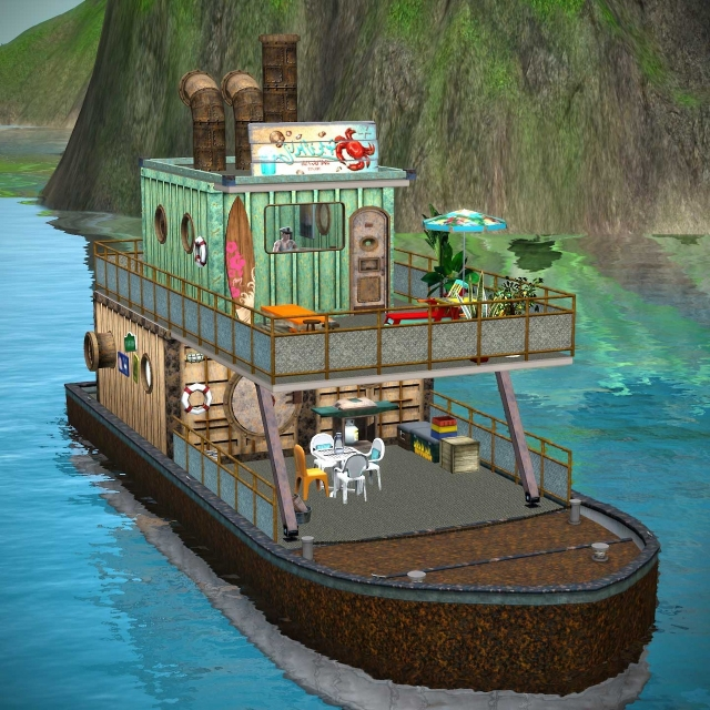 [Inspiration] [Sims 3] Maisons-bateaux 13062807521210715011335635