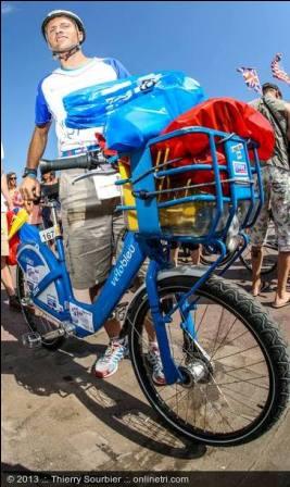 Image parc vélo check-in bleu cadre