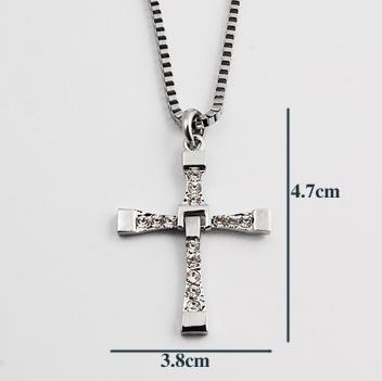 collier pendentif croix fast and furious 6 vin diesel 60cm. Black Bedroom Furniture Sets. Home Design Ideas