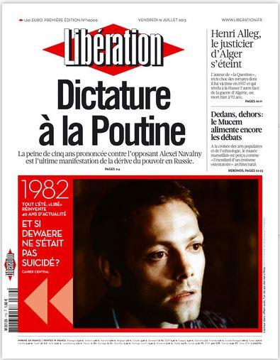 Liberation du Vendredi 19 juillet 2013