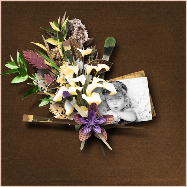fleurs du mal kit simplette page mamandelena