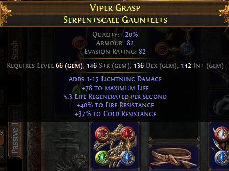 Poe Lightning Warp Build