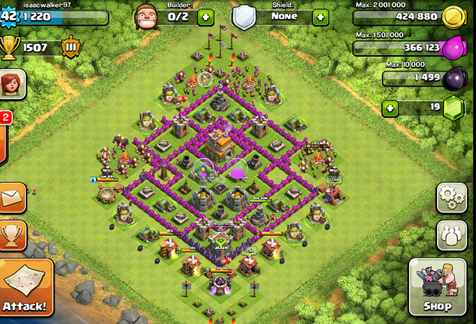 le meilleur village de clash of clans hdv 7