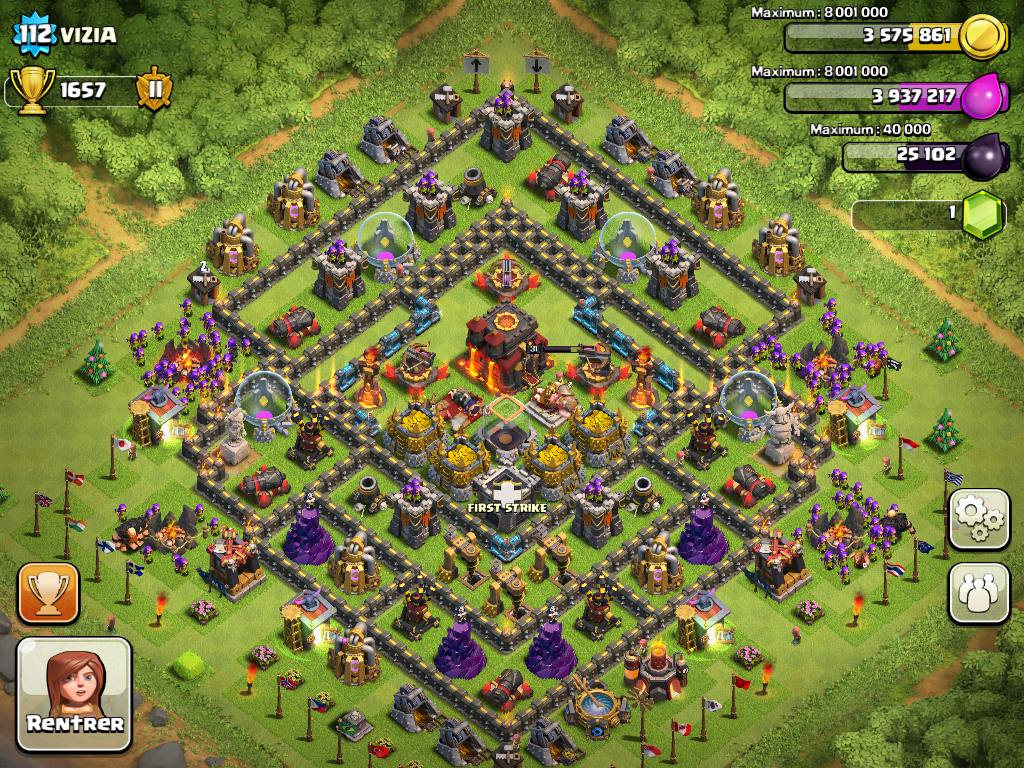 Village clash of clans hdv 10