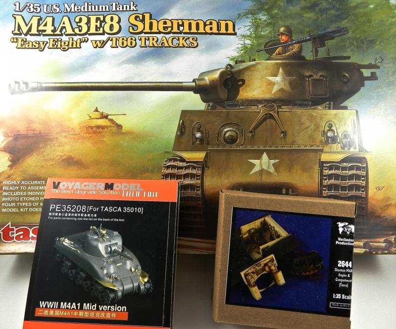 EPAVE DE SHERMAN M4A3 E8 ( TASCA 1/35) (EN STAND BYE)  13081609144515063811470546