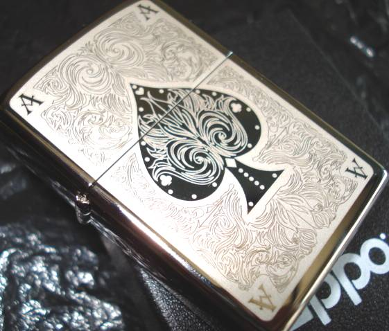 zippo poker as de pique chrom cisel neuf scell ebay. Black Bedroom Furniture Sets. Home Design Ideas