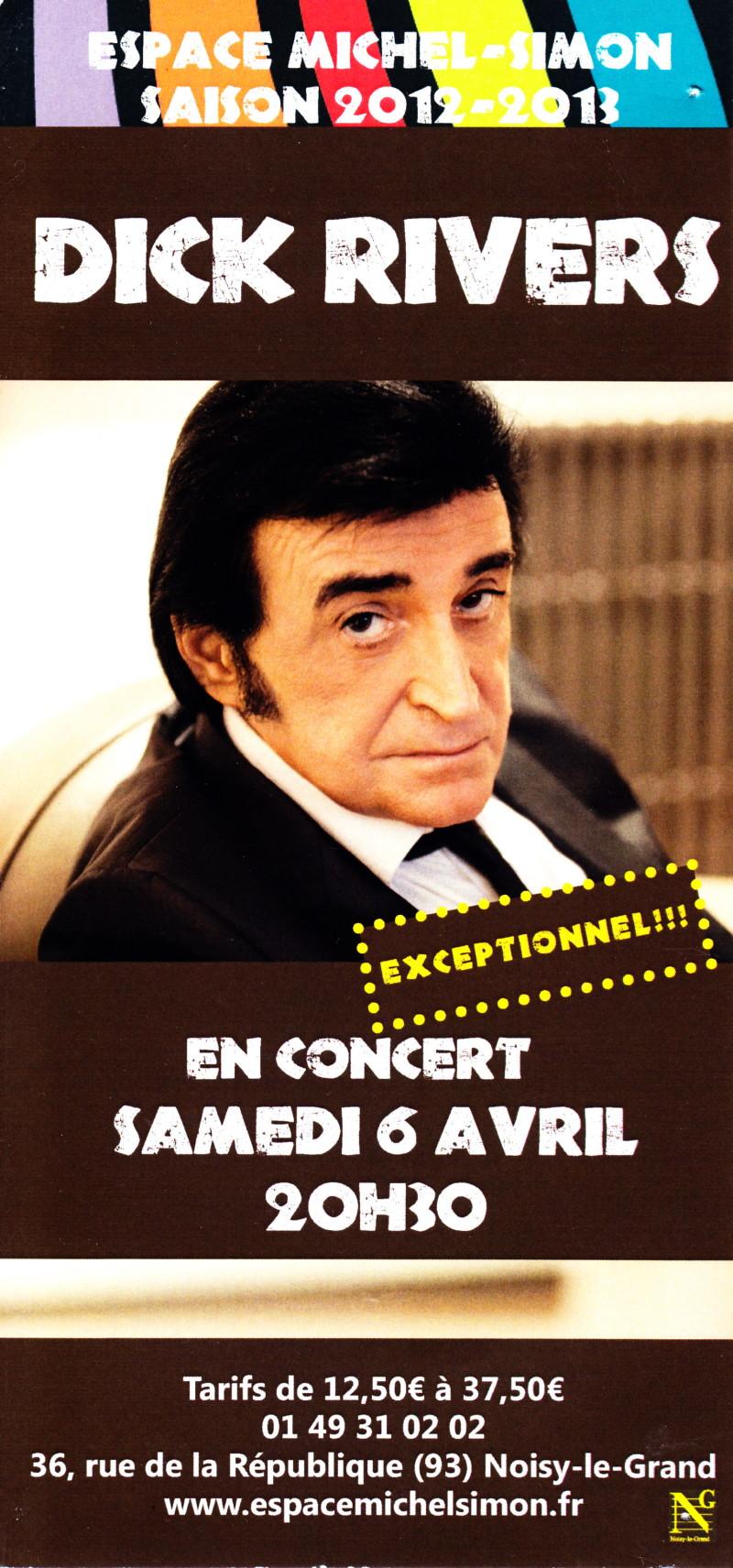 "DICK RIVERS ""Mister D Tour"" 2011/2013 : compte rendu (Casino de Paris, Olympia, Noisy, Clamart) 13082303125615789311487514"