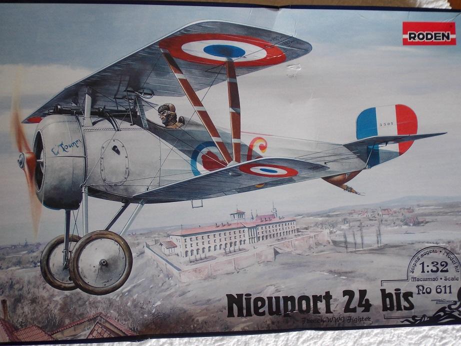 Nieuport 24 bis, kit Roden 1/32 + photo découpe Toms Modelworks et figurine 13082901292316079111507427