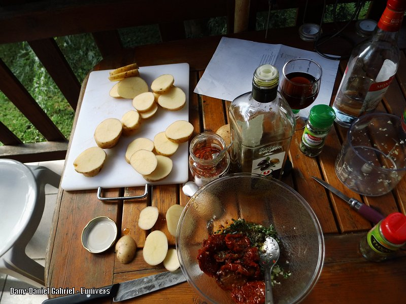 recette patate ail et tomate sechee