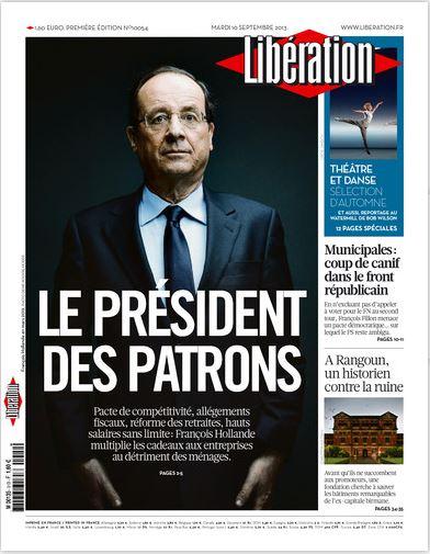 Liberation  du Mardi 10 Septembre 2013