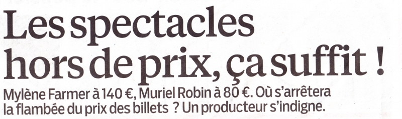 """« Boycottons les concerts trop chers » (""""Le Parisien"""", 14 septembre 2013) 13091404430416724011550558"""